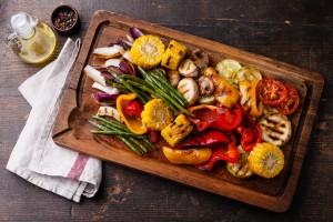 grilled veg on board